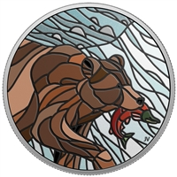 (Pre-Order) 2018 $20 Canadian Mosaics - Grizzly Bear Fine Silver (No Tax)