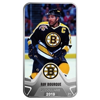 2019 Canada $25 Boston Bruins: Ray Bourque Rectangular Fine Silver (No Tax)