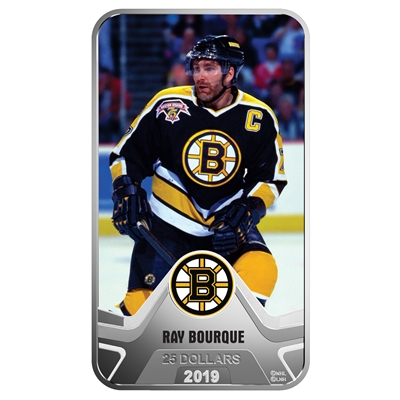 (Pre-Order) 2019 Canada $25 Boston Bruins: Ray Bourque Rectangular Fine Silver (No Tax)