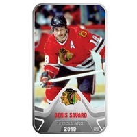 2019 Canada $25 Chicago Blackhawks Denis Savard Rectangular Fine Silver (No Tax)