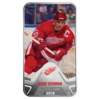 2019 Canada $25 Detroit Red Wings Steve Yzerman Rectangular Fine Silver (No Tax)