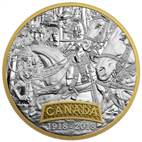 2018 Canada $20 First World War Allied Forces - Canada Fine Silver Coin (No Tax)