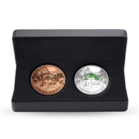 RDC 2018 Canada $30 CNIB 2-coin Set (Coin & Bronze Medallion) - No Tax - Impaired