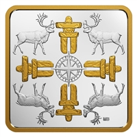 2018 $3 Canadian Coasts - True North Gold Plated Fine Silver (No Tax)