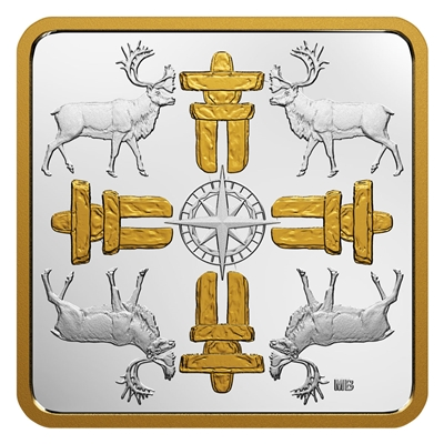 (Pre-Order) 2018 $3 Canadian Coasts - True North Gold Plated Fine Silver (No Tax)