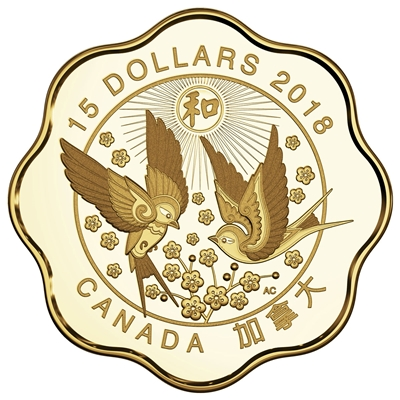 (Pre-Order) 2018 Canada $15 Blessings of Harmony Fine Silver (No Tax)