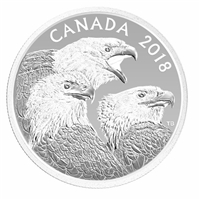 2018 Canada $15 Magnificent Bald Eagles Fine Silver Coin (TAX Exempt)