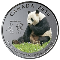 2018 Canada $8 The Peaceful Panda, A Gift of Friendship Fine Silver Coin (No Tax)
