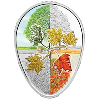 2018 Canada $20 Four Seasons of the Maple Leaf Fine Silver (No Tax)