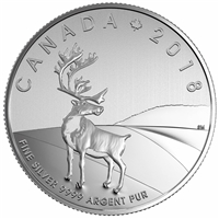 2018 Canada $3 Caribou Fine Silver Coin (TAX Exempt)