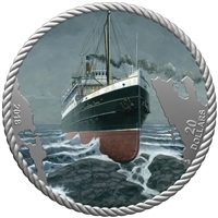 (Pre-Order) 2018 Canada $20 The Sinking of the SS Princess Sophia Fine Silver  (No Tax)