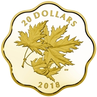 2018 Canada $20 Iconic Maple Leaves Fine Silver (No Tax)