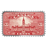 2018 $20 Canada's Historical Stamps - Parliament Building 1927 Confederation (No Tax)