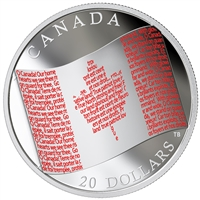 2018 $20 Canadian Flag Fine Silver Coin (No Tax)