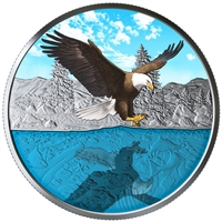 RDC 2019 Canada $20 Reflections - Bald Eagle Fine Silver (No Tax) scuffed sleeve
