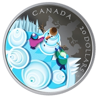 RDC 2019 Canada $20 Mystical Snow Day Fine Silver (Tax Exempt) scuffed sleeve