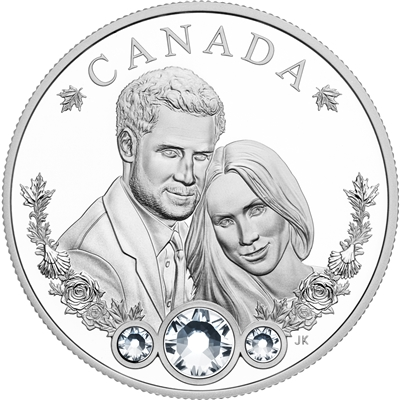2018 Canada $20 The Royal Wedding of Prince Harry and Ms Meghan Markle (No Tax) Scuff