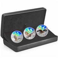 2019 Canada $30 Majestic Birds in Motion Fine Silver 3-coin Set (No Tax)