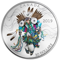 2019 Canada $30 Fancy Dance Fine Silver (No Tax)