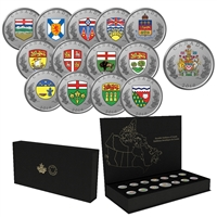 2018 Heraldic Emblems of Canada Fine Silver 14-coin Set (No Tax)