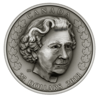 2018 Canada $25 Her Majesty Queen Elizabeth II: Matriarch of the Royal Family (No Tax)