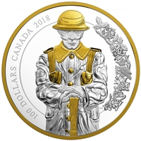 2018 Canada $100 Keepers of Parliament - The Soldier Fine Silver (No Tax)