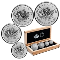 2018 Canada 30th Anniversary of the Platinum Maple Leaf Platinum Fractional Set (No Tax)