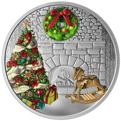 2019 Canada $20 Holiday Wreath Fine Silver Coin (Tax Exempt)