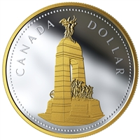 2018 Canada $1 Renewed Silver Dollar: The National War Memorial (Tax Exempt)