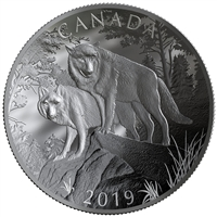 (Pre-Order) 2019 Canada $100 Double Concave Coin Nature's Grandeur: Wolves  Fine Silver (No Tax)