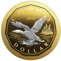 2019 Canada $1 Big Coin Reverse Gold Plated 5oz Fine Silver (No Tax)