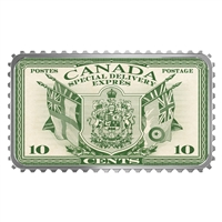 2019 $20 Canada's Historical Stamps Coat of Arms & Flags Special Delivery Silver (No Tax)
