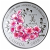 2019 Canada $8 Brilliant Cherry Blossoms - A Gift of Beauty Fine Silver (Tax Exempt)