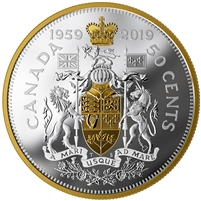 2019 Canada 50-cent 60th Anniversary of the 1959 Half Dollar Fine Silver Coin (No Tax)