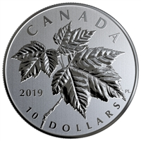 RDC 2019 Canada $10 Maple Leaves Fine Silver (No Tax) Toned