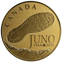 2019 Canada $100 75th Anniversary Normandy Campaign D-Day at Juno Beach 14KT Gold
