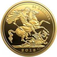 2018 Canada $20 1908 Sovereign 110th Anniversary of the Royal Canadian Mint (No Tax)