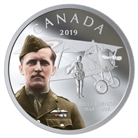 (Pre-Order) 2019 Canada $20 125th Anniversary of the Birth of Billy Bishop Fine Silver (No Tax)