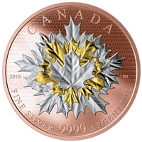 2019 Canada $50 Maple Leaf In Motion Fine Silver (No Tax)