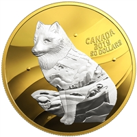 2019 Canada $50 My Inner Nature: Arctic Fox Fine Silver (No Tax)