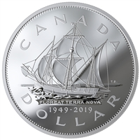 2019 Canada $1 70th Anniversary of Newfoundland Joining Canada Fine Silver (No Tax)