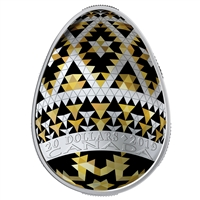 2019 Canada $20 Vegreville Pysanka (Egg Shaped) Fine Silver (No Tax)