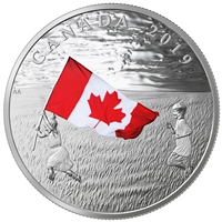 RDC 2019 Canada $20 The Canadian Flag Fine Silver (No Tax) scuff