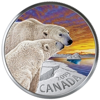RDC 2019 Canada $20 Canadian Fauna - The Polar Bear Fine Silver (No Tax) Scratched