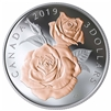 2019 Canada $3 Queen Elizabeth Rose Blossoms Fine Silver (No Tax)