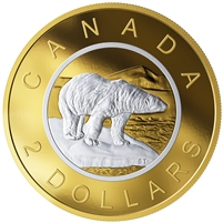 2019 Canada $2 Big Coin Reverse Gold Plated 5oz Fine Silver (No Tax)