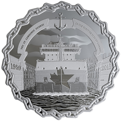 2019 Canada $30 60 Years of Prominence - The St. Lawrence Seaway Silver (No Tax)