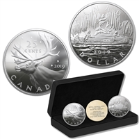 2019 Royal Canadian Mint Coin Lore: Back To Concept 2-coin Fine Silver Set (No Tax)