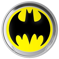 2019 Barbados $1 The Bat Signal Fine Silver (Tax Exempt)