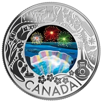 2019 $3 Celebrating Canadian Fun & Festivities - Niagara Falls Fine Silver ( No Tax)